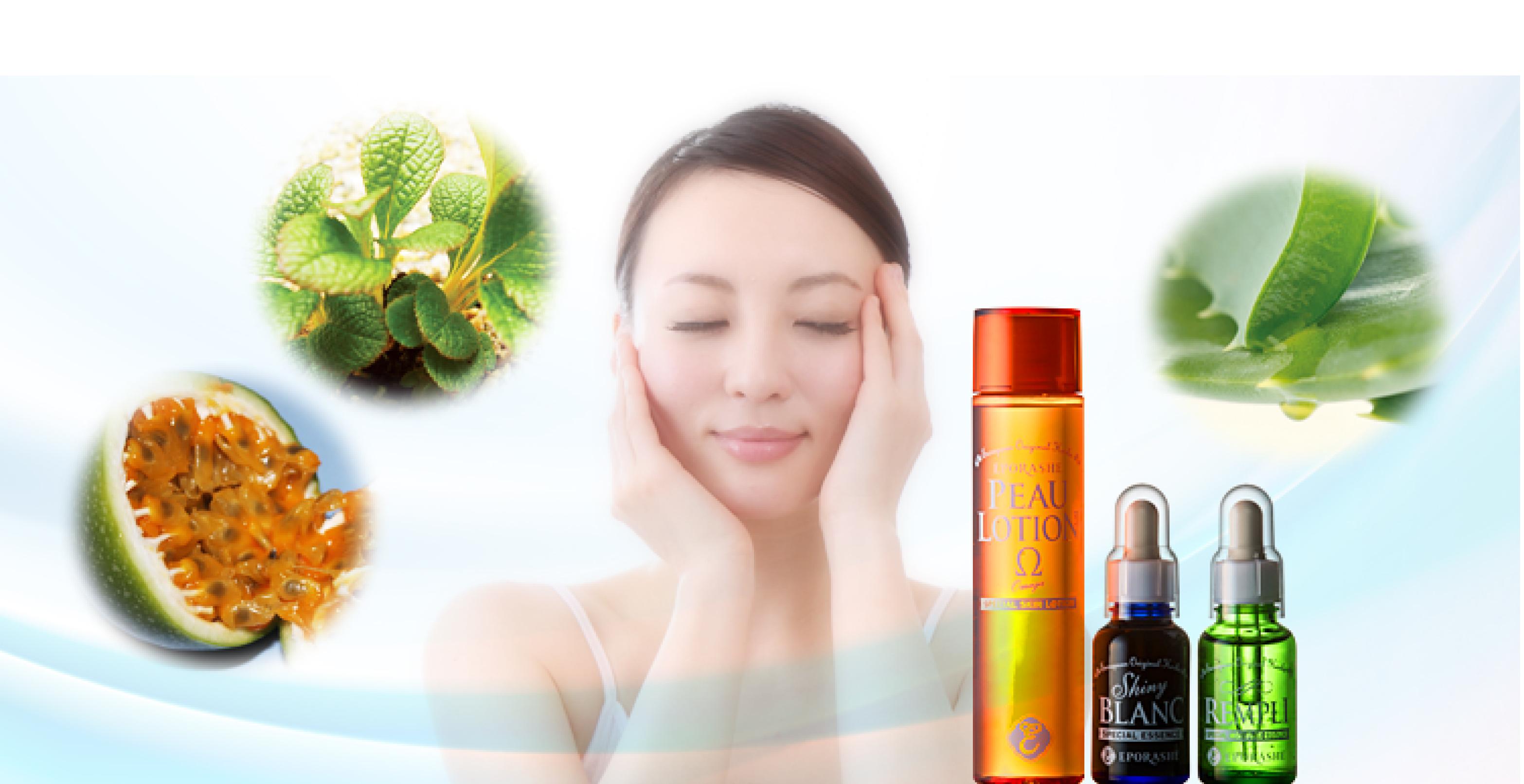無駄なものはいらない水溶性シンプルケア お手入れの基本は、まず保湿から。 水のようなシャバシャバの化粧水でお肌に飲ませるように付け、 高濃度の天然ハーブ美容液で保湿をしっかりと。 お肌に無駄なものは全て排除したシンプルな水溶性ケアで、 肌本来のチカラを引き出す、美しく健やかなお肌を育てましよう。
